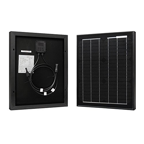 HQST 20 Watt 12 Volt Monocrystalline Solar Panel with MC4 Connectors for DC 12V Battery Charging and Any Other Off Grid Applications