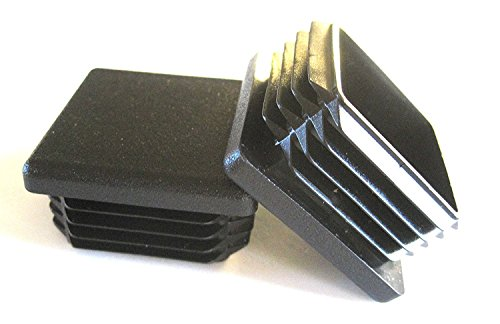 8 Pack: 1 1/2 Inch Square Plastic Plug, Tubing End Cap, Durable Chair Glide by Prescott Plastics, LLC