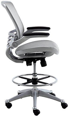 Harwick Evolve All Mesh Heavy Duty Drafting Chair - Platinum Finish by Harwick