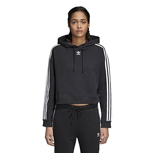 adidas Originals Women's Cropped Hoodie, Black, M