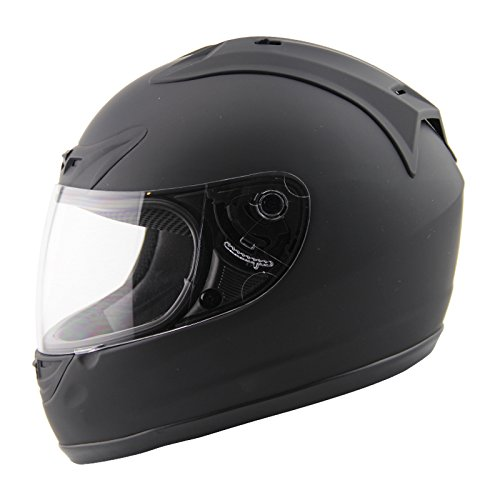 AMZ Full Face Motorcycle Helmets(Flat Black,Medium)[DOT] Cruiser/Touring/Chopper/Harley/Street Bike/Scooter/ATVs/UTV