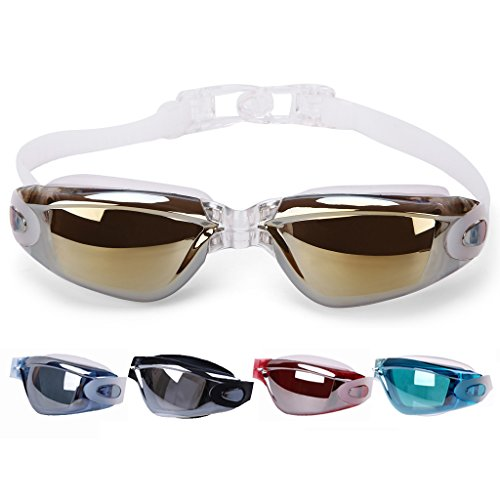 VenTing Swimming Goggles For Men Women,Swim Glasses Watertight Anti Fog UV Protection Gold
