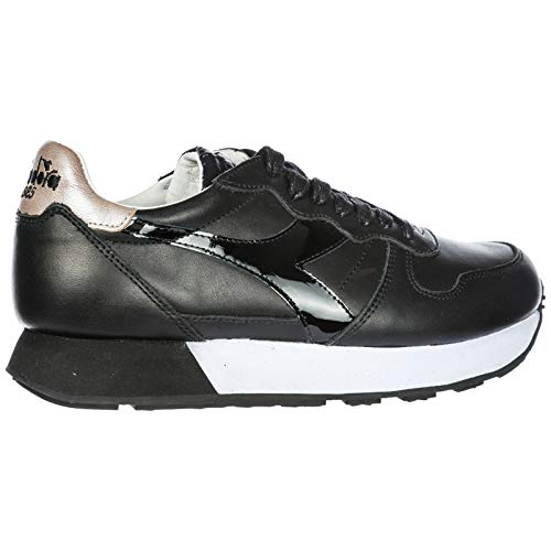 Camaro En H Noir Diadora Baskets Femme Cuir Heritage Sneakers Nero Chaussures qnnxfH7Z0