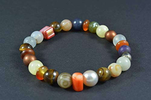 Handmade Women's Gemstone Stretch Bracelet