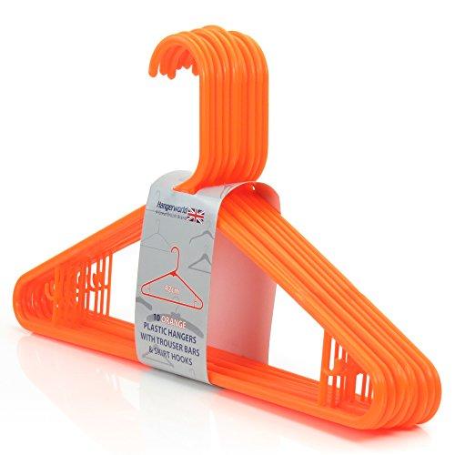 Hangerworld Orange Plastic Hanger Inches