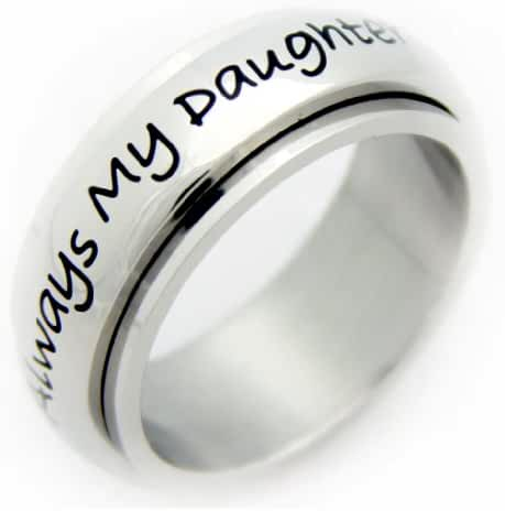 Always My Daughter Now My Friend Spinner Ring - Mother Daughter Spinner Ring - Mother Daughter Gifts