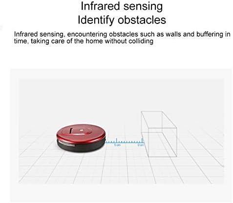 Robot de balayage Robot nettoyeur de nettoyeur ménager intelligent FD-RSW (E) (Gris) (Couleur : Rouge) Rouge