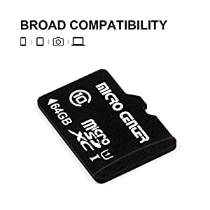 Micro Center 64GB Class 10 Micro SDXC Flash Memory Card with Adapter (Single Pack) (Color: 64GB)