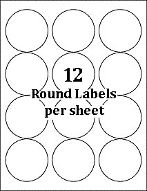 Amazon double pack 100 sheets 1200 labels 2 12 inch amazon double pack 100 sheets 1200 labels 2 12 inch premium glossy round self adhesive white labels 25 diameter comparable to 5294 glossy saigontimesfo