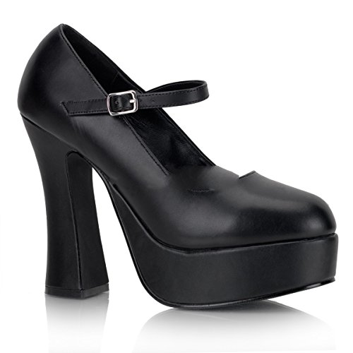 Demonia Dolly-50 - Sexy Gothic Komfort Plateau High Heels Schuhe 36-48, Größe:EU-46 / US-15 / UK-12
