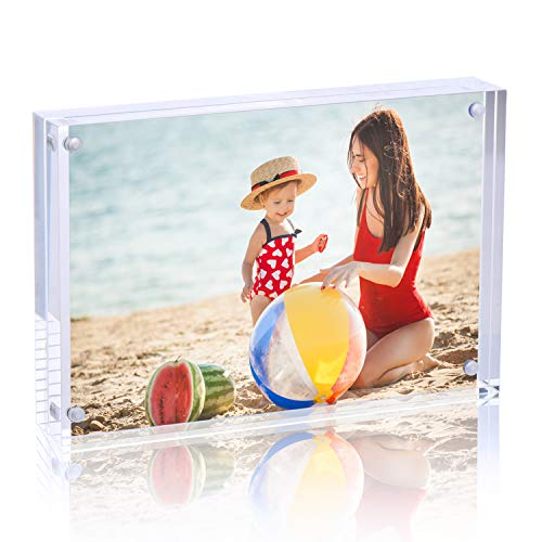 Syntrific 8x10 Acrylic Photo Frame Premium Acrylic Photo Frame Magnetic Picture Frames Clear