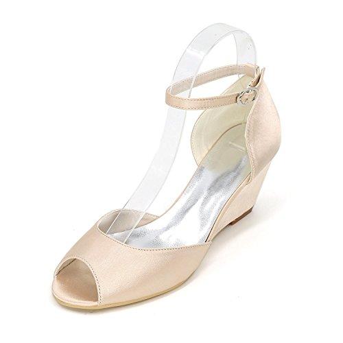 L@YC Damenschuhe Stiletto Heel Peep Toe Sandalen Hochzeit Mehrfarbig Champagne
