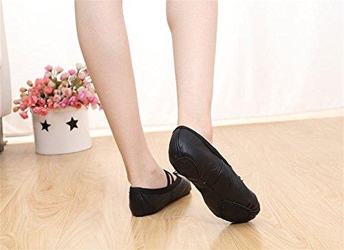 Women's Soft Yoga Black Cat's Shoes Dance Children's Adult Claw Ballet Base Shoes WX Shoes Shoes 39 Leather Practicing Belly Shoes Dance 26 wEzq0T