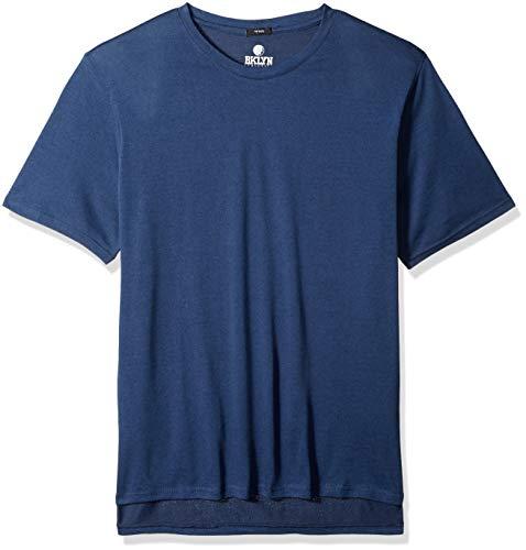 Oce Models - Brooklyn Athletics Men's Marl Modern Slim Fit Short Sleeve Tee Shirt, Ocean, Medium