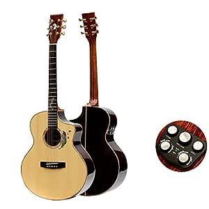 Nivel AA Ingman Spruce Veneer Rosewood Veneer Guitarra Acústica ...