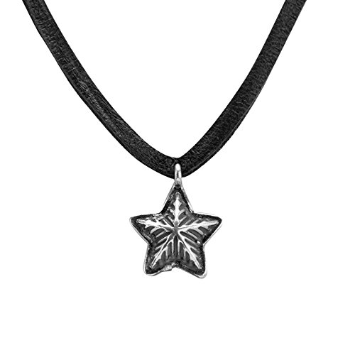 american-west-sterling-silver-black-leather-star-necklace