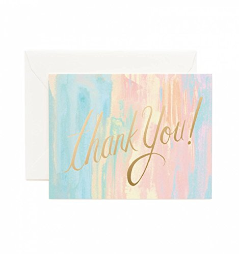 Watercolor Thank You Note Cards by Rifle Paper Co. -- Set of 8 Cards and Envelopes