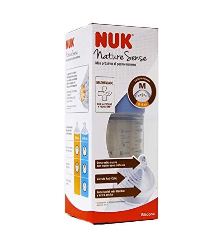 Nuk Nature Sense - Biberón 0-6 m, 260 ml
