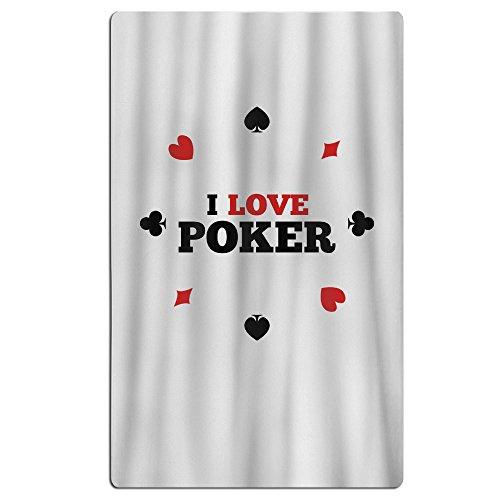 I Love Poker Shower Curtain Unique Custom (Rocket Jack Quick)