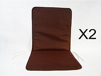 Cuscini Con Schienale Per Sedie Da Esterno : Catay home pack di cuscini con schienale marroni per sedia da