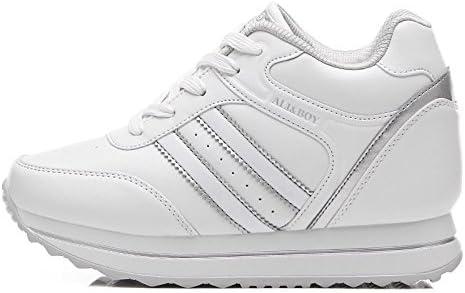 FYQ & zapatos plataforma zapatos calzos plataforma incrementan la altura del calzado de ocio zapatos blanco blanco Talla:40: Amazon.es: Deportes y aire libre