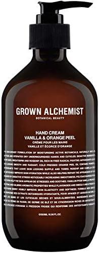 Grown Alchemist Hand Cream – Vanilla Orange Peel 500 Milliliters, 16.9 Ounces