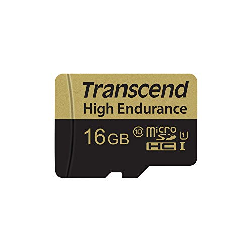 (Transcend Information 16GB High Endurance microSD Card with Adapter (TS16GUSDHC10V))
