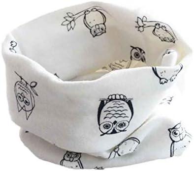 Violet Gar/çons Filles Hibou Col dimpression BZLine Baby Coton O Ring Neck Foulards /Écharpe dautomne