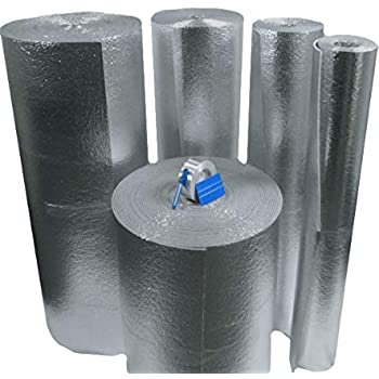 """Supershield Reflective White Foam Core Pipe Duct Wrap Insulation 6/"""" x 25/' Roll"""