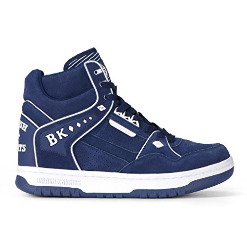 British Knights Director HI Men's Hi-Top Suede SneakerDeep Ocean/White, 9.0