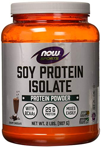 Chocolate Protein Soy - NOW Sports Nutrition, Soy Protein Isolate Powder, Creamy Chocolate, 2-Pound