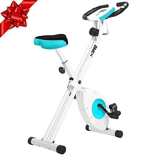 Xspec Foldable Stationary Upright Exercise Bike Cardio Workout Indoor Cycling Xspec