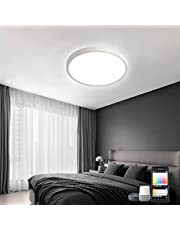 36 W LED Flush Mount Ceiling Light, Warm Natural Cold Daylight Lamp with App Control Works with Alexa Google Assistant LED Ceiling Light for Bedroom Kitchen Bathroom Hallway Stairwell Walk-in Closet