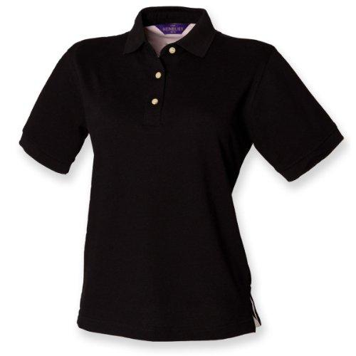 Henbury Frauen Poloshirt klassisch Schwarz XL