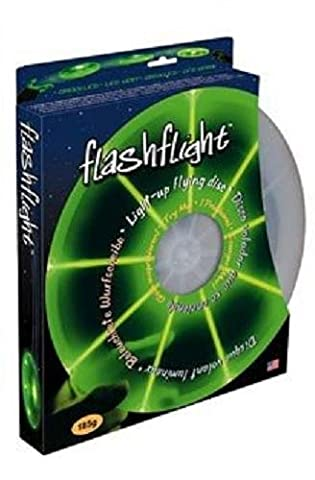 Nite Ize Flashflight LED Light Up Flying Disc, Glow in the Dark for Night Games, 185g, Green - These Discs