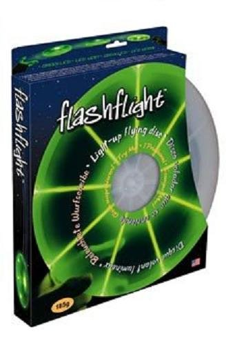 Nite Ize Flashflight LED Light Up Flying Disc, Glow in the Dark for Night Games, 185g, Green -