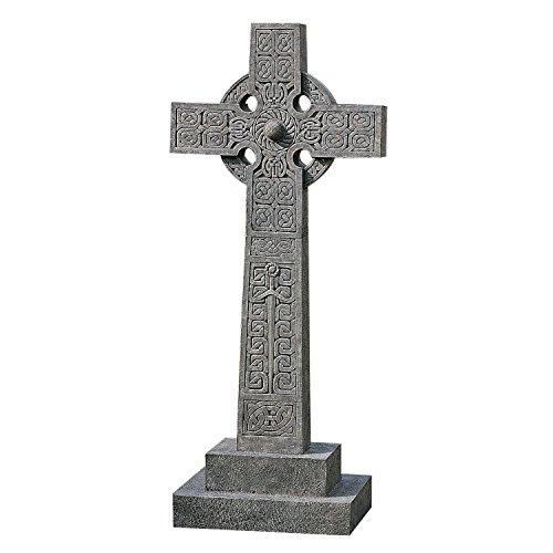 Full-Size Chisholm Highland Celtic Cross Statue - Scottish Cross Statue - Memorial (Funny Gravestones For Halloween)