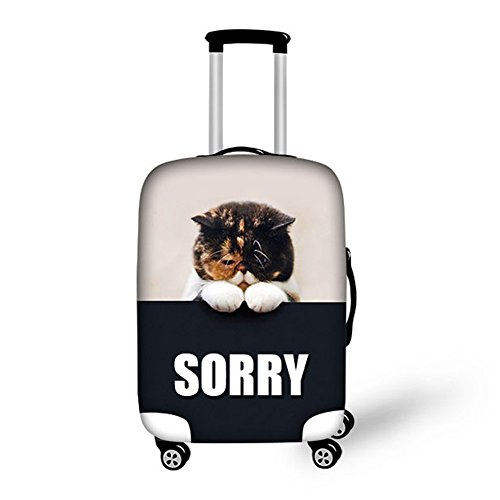 Cheap HUGS IDEA Cute Pet Dog Designs 26/28/30 Inch Travel Luggage Cover