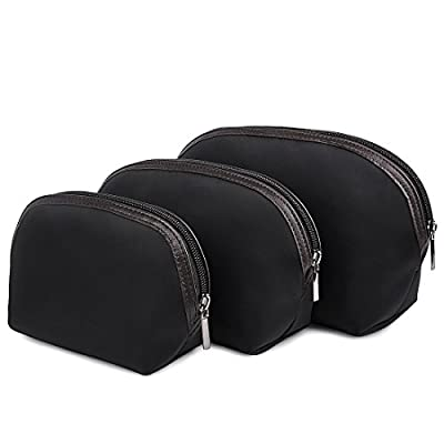 Cosmetic Bag,ZMSnow Set of 3 Nylon Water Resistant Beauty Makeup Travel Bag