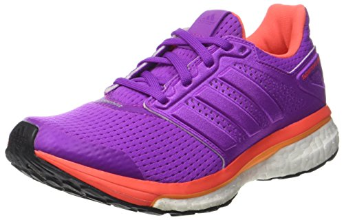 Shoes Running 750 (adidas Supernova Glide 8 Boost Womens Running Trainers Sneakers (UK 4.5 US 6 EU 37 1/3, Shock Purple Orange White BB4036))