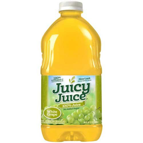 Juicy Juice White Grape Juice Multi Serve Bottle, 64 Fluid Ounce -- 8 per (Juicy Juice Bottle)