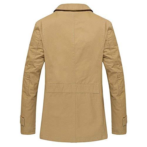 Primavera Leggero Viaggio Uomo Capispalla Coat Da Casual Cotone Autunno Wear Cappotto Outdoor Jacket Khaki Giacca wTZ1BSqvn