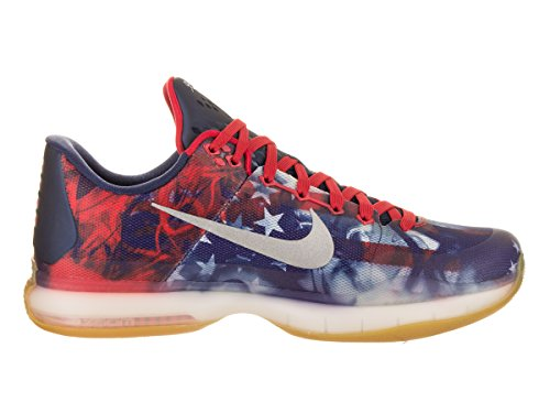 NIKE Herren Kobe X Basketballschuh University Red / Reflect Silber-Foto Blau