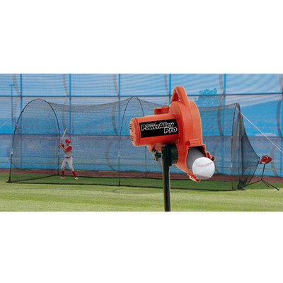 Pitching Machine Baseball with Cage for Kids Fastballs Groun