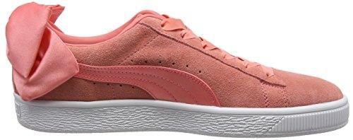 Donna Basse Puma shell Rosa Pink Ginnastica Da shell Suede Pink Bow Scarpe Wn's nffw0RYq