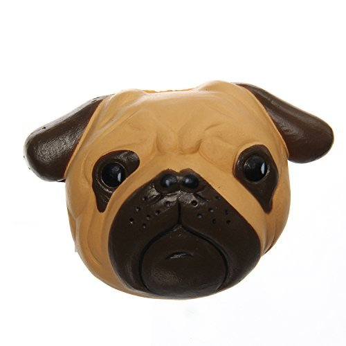 TEEGOMO Cute Pug Dog Khaki Shar Pei Animal Squishies Slow Rising Kids Gift Fun Collection Stress Relief Toy (Toy Dog Pug)