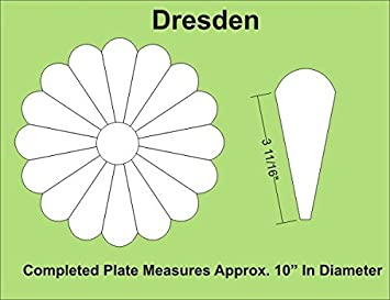 Amazoncom Paper Pieces Dresden Plate Paper Template Set For Block - Dresden plate template
