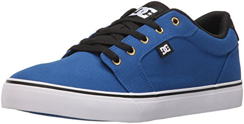 DC Men's Anvil TX Skateboarding Shoe, Royal/Black, 8 M US