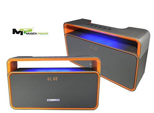 Classic Boombox-Portable Wireless Bluetooth Stereo Mini-HiFi Speaker with Enhanced Bass and Passive Radiators-Increptable Sound with FM Radio. Good for Street Dance, Party, BBQ.......etc(Orange/Black)