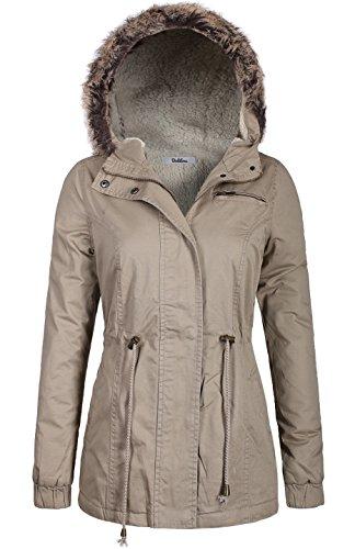 Quilted Faux Fur Trim Jacket - 9